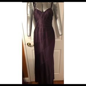 Size 4 Evening Gown JS Collections Purple  Gold